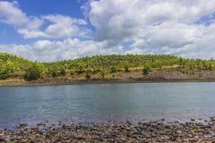 Narmadarivier Stock Foto's