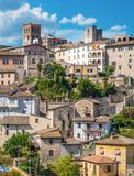 Narni, ciudad antigua en la provincia de Terni Umbría, Italia central fotos de archivo libres de regalías