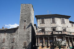 Narni, Oude gebouwen stock foto