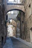 Narni (Terni, Umbrië, Italië) - Oude straat stock foto's