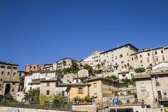Narni, uma vila medieval antiga em Úmbria, Itália Fotos de Stock