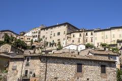 Narni, uma vila medieval antiga em Úmbria, Itália Foto de Stock Royalty Free