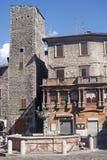 Narni (Umbrië, Italië) - Oude gebouwen stock foto's