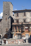 Narni (Umbrien, Italien) - alte Gebäude Stockfotos
