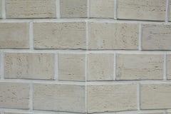 Narożnikowa struktura dom Tekstura - sztuczny dekoracyjnego kamienia façade siwieje kolor kamiennej ściany tła szorstką teksturę Obrazy Royalty Free