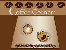 narożnikowe kaw filiżanki Zdjęcia Royalty Free