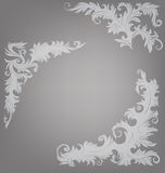 Narożnikowego elementu ozdobny dekorujący barokowy roccoco Obraz Royalty Free