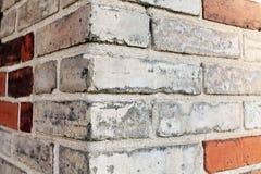 Narożnikowy ściana z cegieł Obrazy Stock