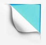 Narożnikowy biel drzejący papier fotografia royalty free