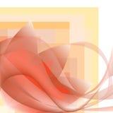 Narożnikowy deseniowy fala whit kwiat na geometrycznym tle Zdjęcia Royalty Free