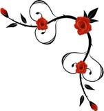 Narożnikowy ornament z różami Zdjęcia Stock