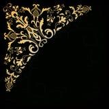 Narożnikowy ornamentacyjny kwiecisty element ilustracyjny lelui czerwieni stylu rocznik Zdjęcie Royalty Free