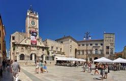 Narodni trg. Square and Grad in Zadar, Croatia Stock Photography