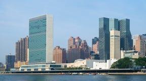 Narody Zjednoczone kwater głównych kompleks i USA stała misja Fotografia Royalty Free