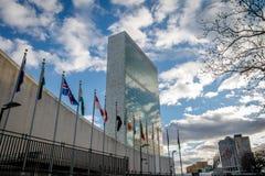 Narody Zjednoczone kwatery główne - Nowy Jork, usa obrazy stock
