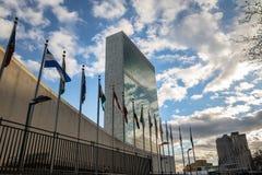 Narody Zjednoczone kwatery główne - Nowy Jork, usa fotografia royalty free