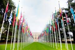 Narody Zjednoczone pałac w Genewa Obraz Royalty Free