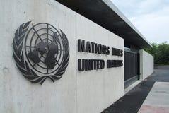 Narody Zjednoczone w Genewa: wejście Zdjęcia Stock