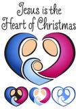 Narodzenia Jezusa bożenarodzeniowy Serce Zdjęcie Stock