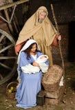 narodzenie jezusa żywa scena obraz stock