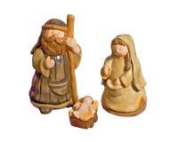 narodzenie jezusa ceramiczna śliczna scena Obraz Stock