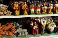 Narodzenie Jezusa figurki fotografia royalty free