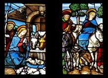 Narodzenie Jezusa i ucieczka Egipt Zdjęcia Stock