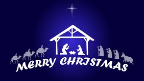 Narodzenie Jezusa jezus chrystus Wesoło boże narodzenia royalty ilustracja