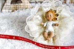 Narodzenie Jezusa pod śniegiem Zdjęcia Stock