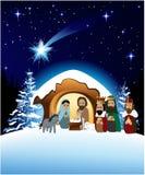 narodzenie jezusa scena Obraz Stock
