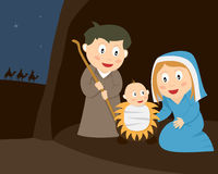 narodzenie jezusa scena Zdjęcie Stock