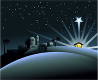 Narodzenie Jezusa scena Obraz Royalty Free