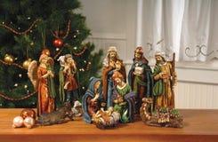 Narodzenie Jezusa scena. Obraz Royalty Free