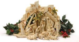 Narodzenie Jezusa scena. Obrazy Royalty Free