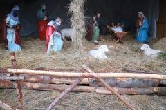 Narodzenie Jezusa scena: prezenty magi Fotografia Royalty Free