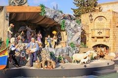 Narodzenie Jezusa scena w watykanie, Rzym, Włochy Fotografia Royalty Free