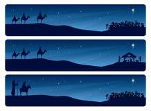 Narodzenie Jezusa sztandar ilustracja wektor