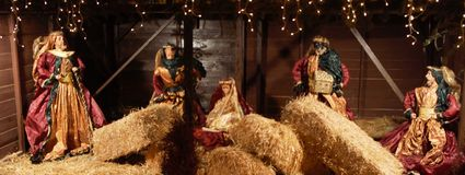 Narodzenie Jezusa sztuka zdjęcia royalty free