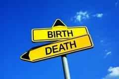Narodziny i śmierć obrazy stock