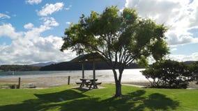 Narooma en Wagonga-Inham in Nieuw Zuid-Wales in de zomer, Australië stock videobeelden