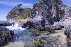 Narooma. Rock formations off the coast of Narooma, NSW South Coast, Australia royalty free stock photography