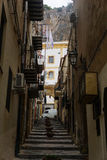Narow lane in Cefalu Royalty Free Stock Images