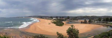 Narrabean laguna i plaża obraz stock