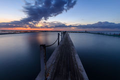 Narrabeen basen przy wschodem słońca Zdjęcia Royalty Free