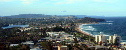 Narrabeen beach from Collaroy Plateau Royalty Free Stock Photos