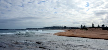 Narrabeen lakes entrance and Narabbeen beach Royalty Free Stock Photography