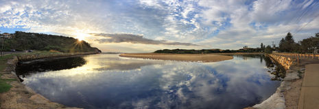 Narrabeen landscape Panorama Stock Images