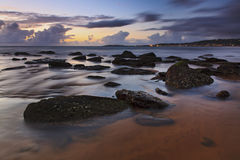 Narrabeen Stones Beach Rise Stock Photo