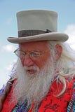 Narrador barbudo en el festival de Guilfest Imagen de archivo libre de regalías