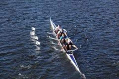 Narragansett小船俱乐部在主任查家赛跑 库存照片